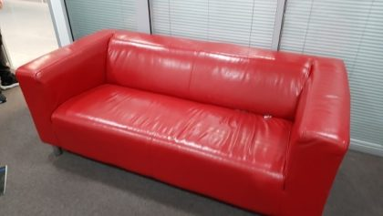 Red 3-Seater Leather Sofas