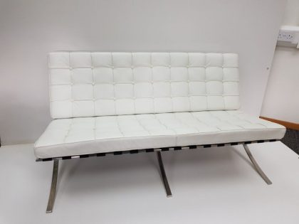 White Eames Style Barcelona Sofas