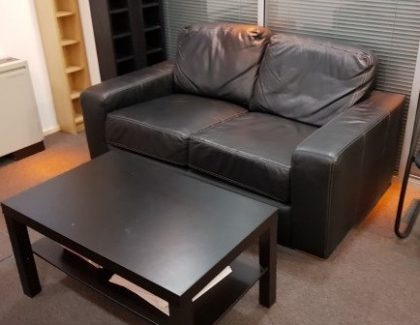 Black 2 Seater Contemporary Sofas