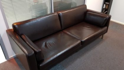 Brown Leather 3 Seater Sofas