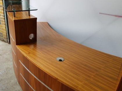 Walnut Reception Counter