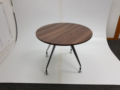 Vitra Walnut Round Meeting Tables