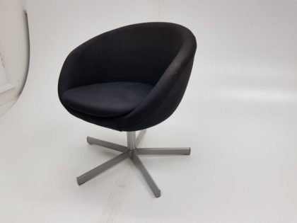Black Swivel Tub Chairs