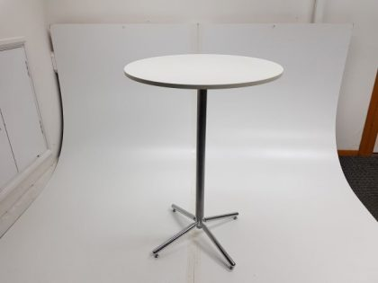White Round Top Poseur Tables