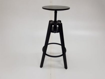 Black Wooden Height Adjustable Stools