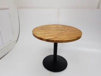 Light Wood Circular Meeting Tables