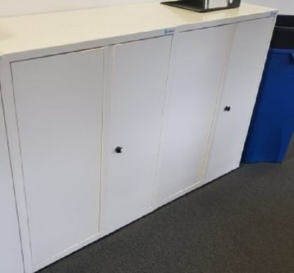 White Storage Cupboards