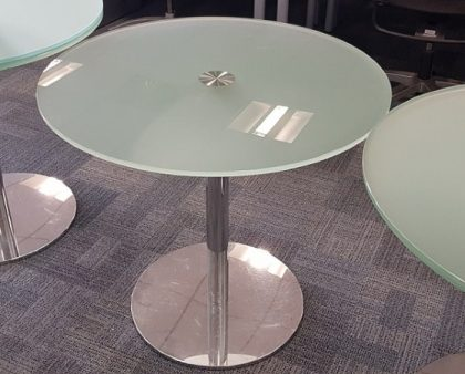 Round Glass Meeting Tables