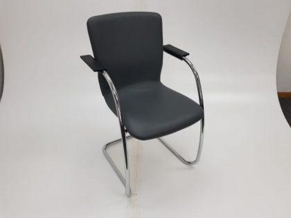 Orangebox Black Leather Meeting Chairs