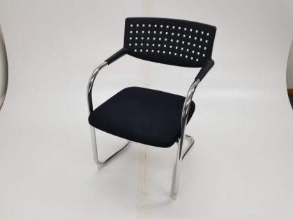 Black Vitra Visavis Style Meeting Chairs