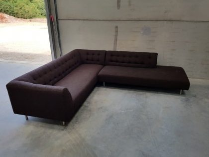 SCP Dark Brown Corner Sofa