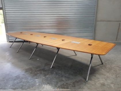 Walnut Four Part Boardroom Table