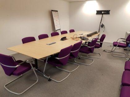 Oak Barrel Shaped Boardroom Table