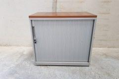 Low Grey Single Door Tambour Cupboards (1)