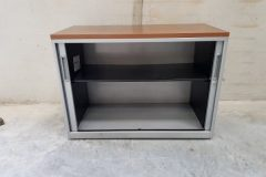 Low Grey Tambour Cupboards (1)