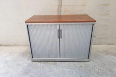 Low Grey Tambour Cupboards (2)