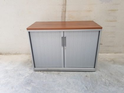 Low Grey Tambour Cupboards
