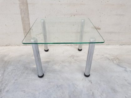 Low Square Glass Coffee Table