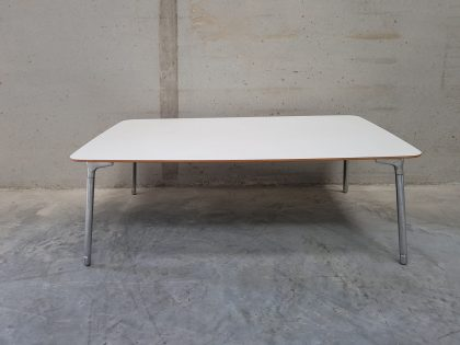 Low White Rectangular Coffee Table