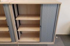 Maple Tambour Door Storage Units
