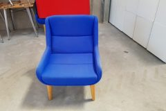 Naughtone Hush Low Armchairs - royal blue