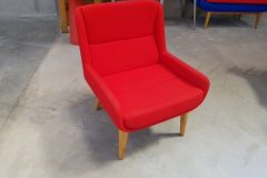 Naughtone Hush Low Armchairs - scarlet red
