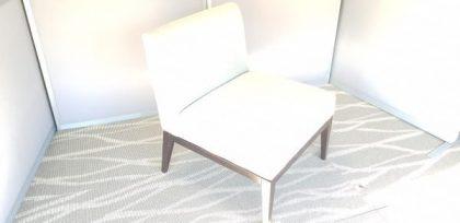 Grey Armless Reception Chair