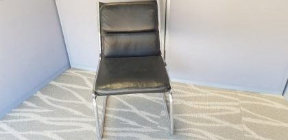 Luxy Black Leather Meeting Chairs