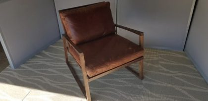 Retro Leather Armchairs