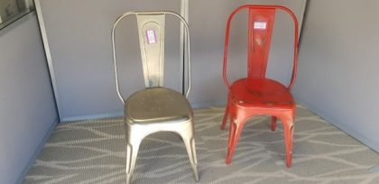 Tolix Galvanized Metal  Retro Café Chairs