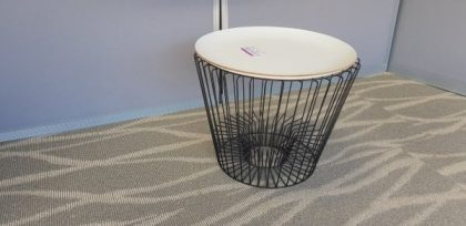 Dark Metal Wire Stool Tables