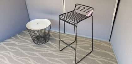 Dark Metal Wire Bar Stools