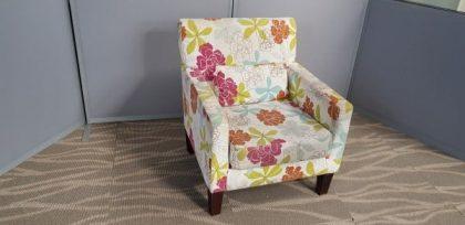 Modern Floral Armchair