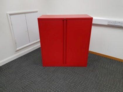 Red Metal Storage Cupboards