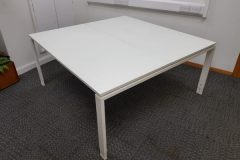 Used White Bench Desks