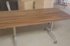 Walnut Flip Top Meeting Tables