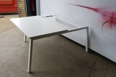 Used White Bench Desks Angled Leg