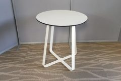 Used White Criss Cross Base Tables