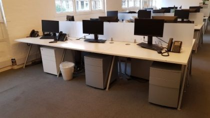 White 1200mm Bench Desks