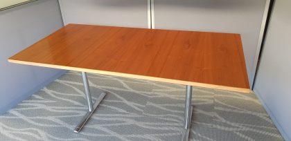 Walnut Veneer Flip Top Tables