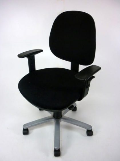 Black Mid Back Operator Chairs