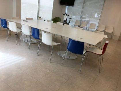 White Rectangular Café Tables