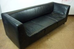 Used Black Leather Sofa
