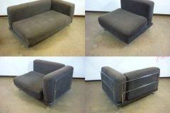 Used Chrome Frame Modular Sofa
