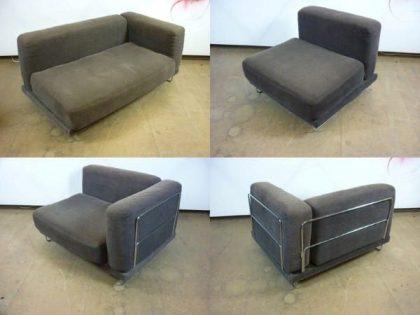 Chrome Frame Modular Sofa