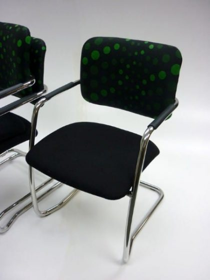 Funky Black Cantilever Chairs