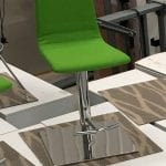 Green Fabric Bar Stools