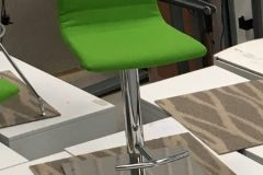 Used Green Fabric Bar Stools