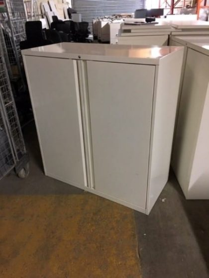 White Metal Cupboards