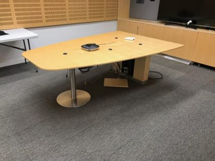 Luke Hughes Triangular Maple Meeting Table